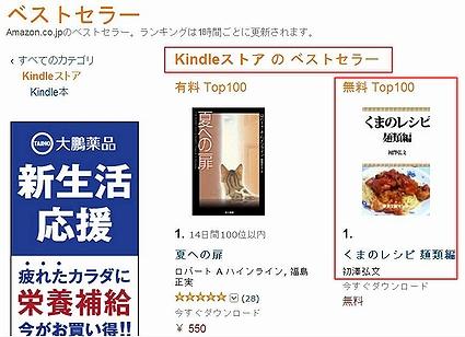 2013.Jun.6 無料ダウンロード電子書籍総合1位(オールジャンル)
