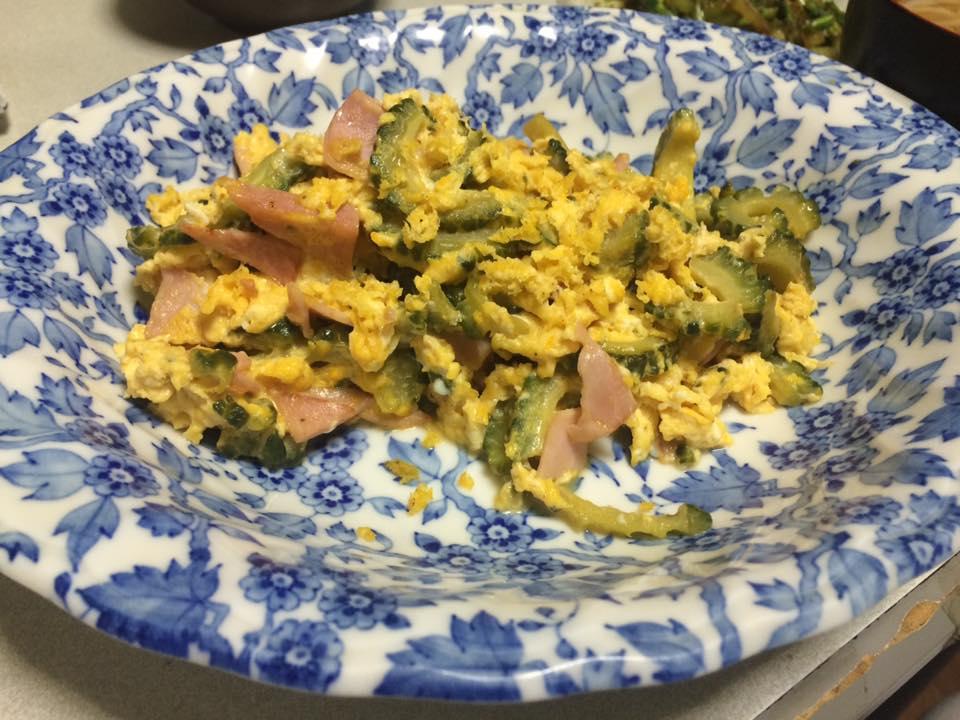 ハムと卵のゴーヤチャンプル